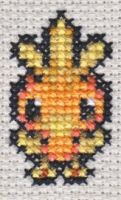PMD X-Stitch 6: Torchic by missy-tannenbaum