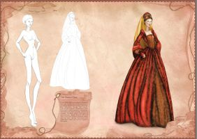 Tudor period inspired illustration by BasakTinli