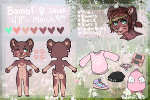Bambi reference 2015 by s-trawberrymilk