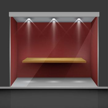 Shelf Background With Light 4 by MarioGembell