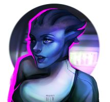 Liara T'Soni by projectnelm