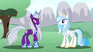 Princess Sable Heart and Princess Crystal by AlicornCrystal