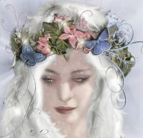 White Fae Butterfly Sparkle by lochnessa2