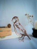 Owl  - wire sculpture by UrsulaJewelry
