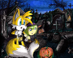 Cemetery In The Night Of Halloween by erosmilestailsprower