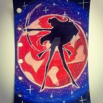 Sailor Mars Silhouette by AveryBellAnnaArt