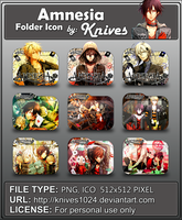 Amnesia Anime Folder Icon by Knives by knives1024