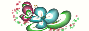 butterfly and flower by starl1ght3y3s