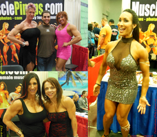The Muscle Pinups Booth at the 2013 Arnold Classic by zenx007