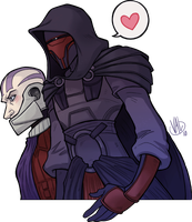 Revan and Malak by valval