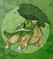 Textured Torterra by Inkblot-Rabbit
