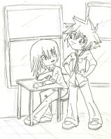 School Time with Sora and Riku by FeedTheBirds