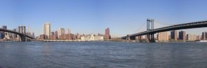 NYC - Bridges Panorama by freezejeans