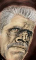 Ron Perlman the missing link by TheCoffeeBaron