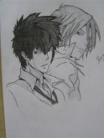 Kogami Shinya and Makishima Shogo from PSYCHO-PASS by Master-Tomoya