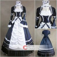 Maid Long Sleeves Gothic Lolita Dress by wendywei2012