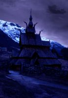 premade 2 wooden church by sometimesnooneknows