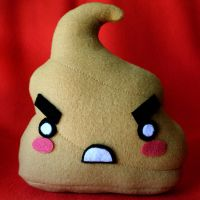 Angry Poo Plushie - Lt. Brown by HezaChan