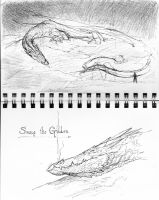 Smaug sketches by TurnerMohan
