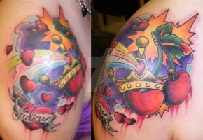 FREEHAND CHERRY TATTOO by dannygarcia