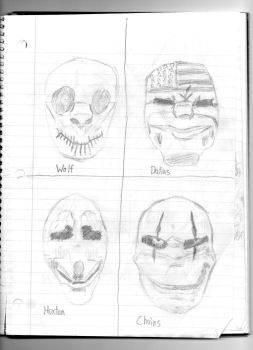 Sketch: The PAYDAY crew (PAYDAY) by spiral6sm