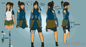 Ninja Korra full body by SpilarBlue