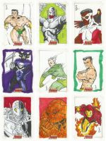 Complete Avengers Sketch cards by jasonsobol