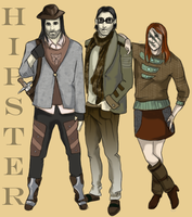 Skyrim Hipsters: The Companions by HazieAsh