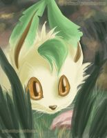 pokeaday 11-3-2011 Leafeon by Pokeaday