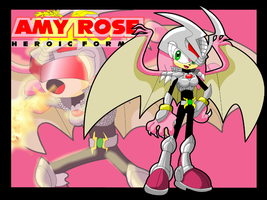 Amy Rose Heroic Form by Gaminefans