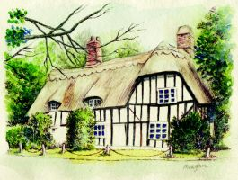 Cottage Glatton Cambridgshire by morgansartworld