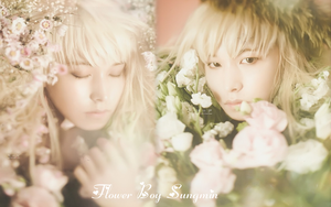 Sungmin Flower Boy Wallpaper by kimichi8723