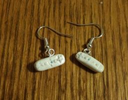 Wii Remote Earrings by ByToothAndClaw