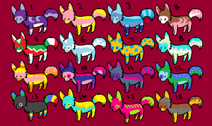 Little Wolf Adopts- 1 Point each! :Open: by Stella-Kitty
