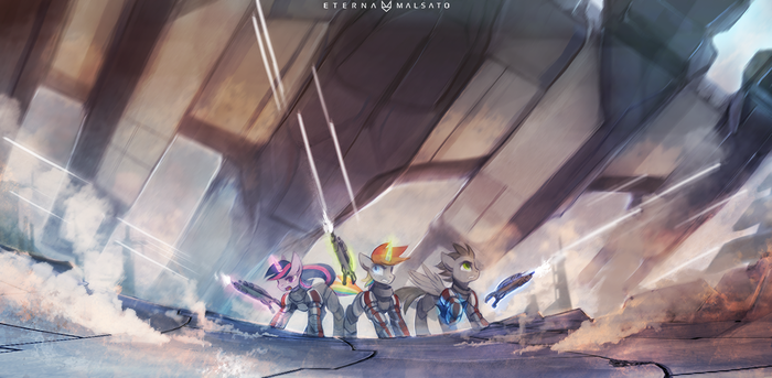Normandy saves the day by FoxInShadow