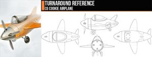 Turnaround: CG Cookie Airplane by ConceptCookie
