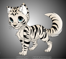 White Tiger Kitten Adoptable - Closed by Twidel-de