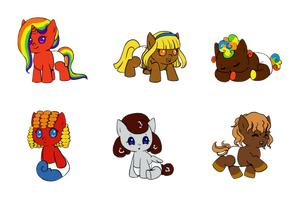 MLP CANDY ADOPTABLES (Closed) by SuperHeroPattyFatty
