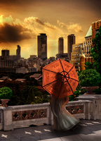 Japan Sunrise by Noxart-graphics