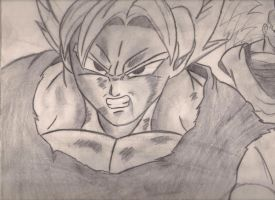 Goku Super Saiyan Damaged by pellakos