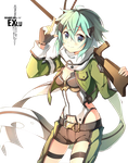 Sinon (GGO) Render by ExLu