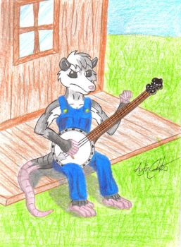 Pohl playing Banjo request by Possum-luver