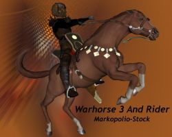 War Horse 3 + Rider -Dec08, 07 by markopolio-stock