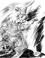 Fox and Falco for Inktober by justinprokowich