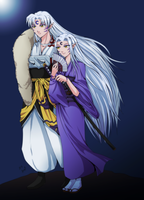 Natsuko and Sesshomaru by naoguiarts