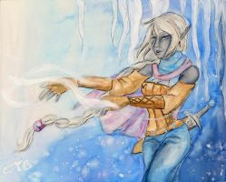 Watercolor// Alauninae- Cold winds by tguillot