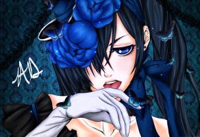 Ciel Phantomhive Lineart Color by XxShiraiYukixX