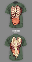 Zombie T-shirt Design by Crazzity
