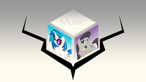 Music Cube (Vinyl Scratch and Octavia) by OverdrivenZX