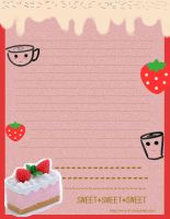 strawberry stationary by mica-01